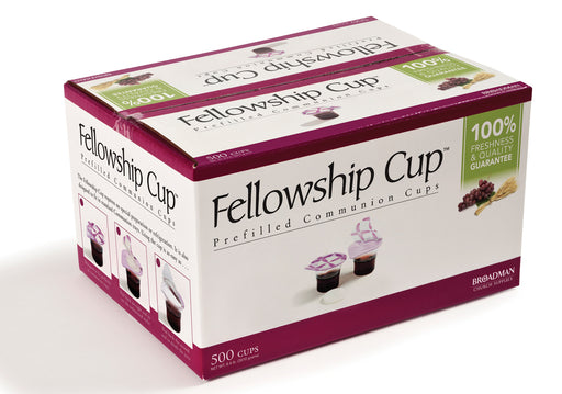 Communion Fellowship Cup Prefilled Juice/Wafer Box of 500