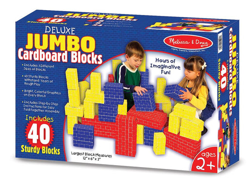 Melissa & Doug Deluxe Jumbo Cardboard Blocks (40 pieces)