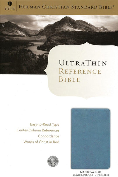 HCSB Ultrathin Reference Bible, Mantova Blue LeatherTouch Indexed