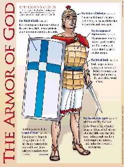 Chart-Armor Of God Wall (Laminated)