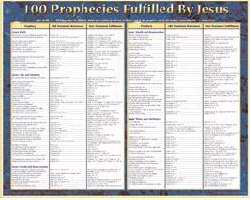 Chart-100 Prophecies Fulfilled By Jesus (Laminated