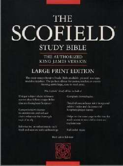 KJV Old Scofield Study Bible/Large Print-Black Genuine Leather Indexed