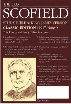 KJV Old Scofield Study Bible-Classic-Burgundy Genuine Leather S/S