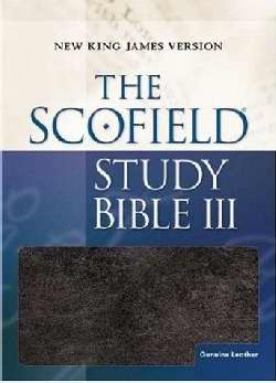 NKJV Scofield Study Bible III-Black Genuine Leather Indexed S/S