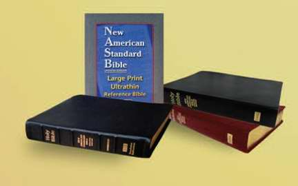 NASB Large Print Ultrathin Reference Bible-Black Calfskin Leather