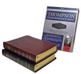 KJV Thompson Chain-Reference Bible-Burgundy Bonded Leather
