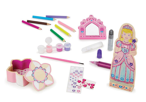 Melissa & Doug Decorate Your Own Wooden Princess Crafts Set