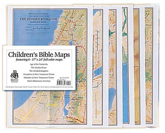 Map-Children's Bible Maps (Set Of 6)