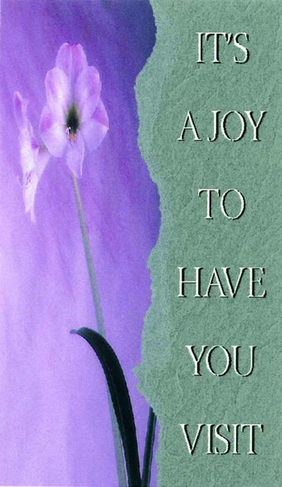 Pew Card-It's A Joy To Have You Visit (Pack of 50)