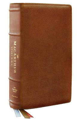 NKJV, MacArthur Study Bible, 2nd Edition, Premium Goatskin Leather, Brown, Premier Collection, Comfort Print