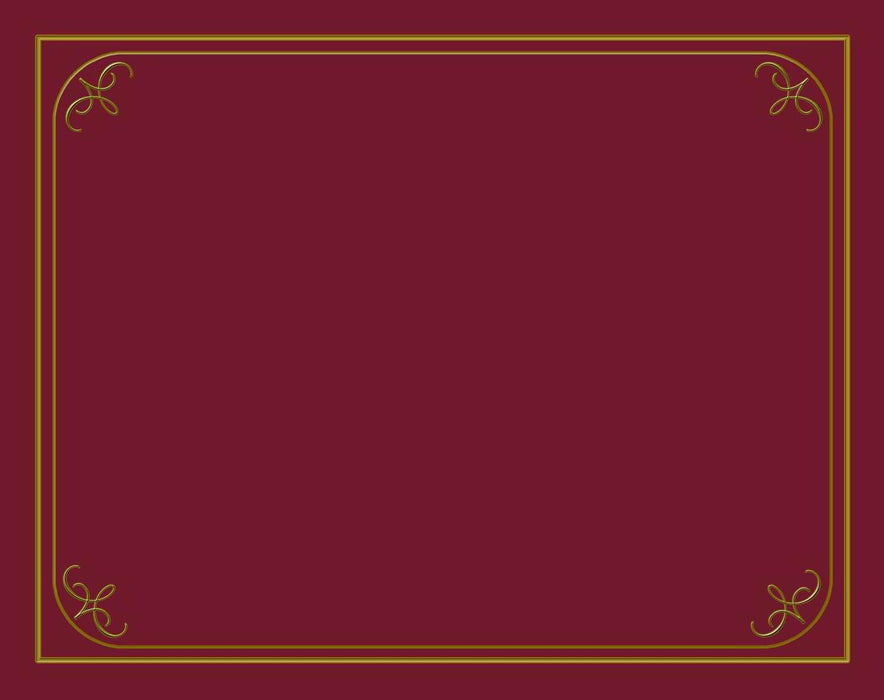 "Certificate-Certificate Holder-Burgundy (9"" x 12-1/2"") (Pack of 6)"