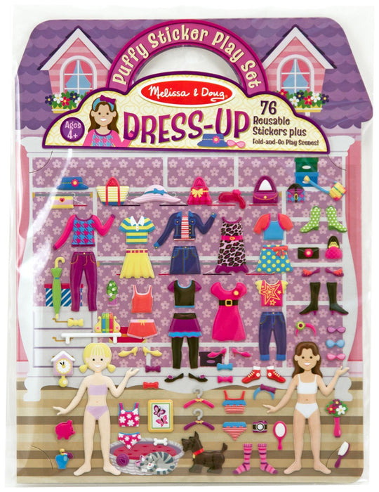 Melissa & Doug Puffy Sticker Play Set-Dress-Up