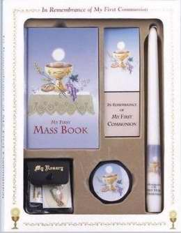 My First Mass Book Deluxe Gift Set (My First Eucharist Edition)-Boys