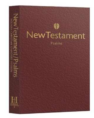HCSB Economy New Testament with Psalms, Burgundy Trade Paper