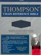 KJV Thompson Chain-Reference Bible-Blue Bonded Leather