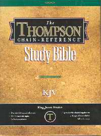 KJV Thompson Chain-Reference Bible-Black Bonded Leather Indexed