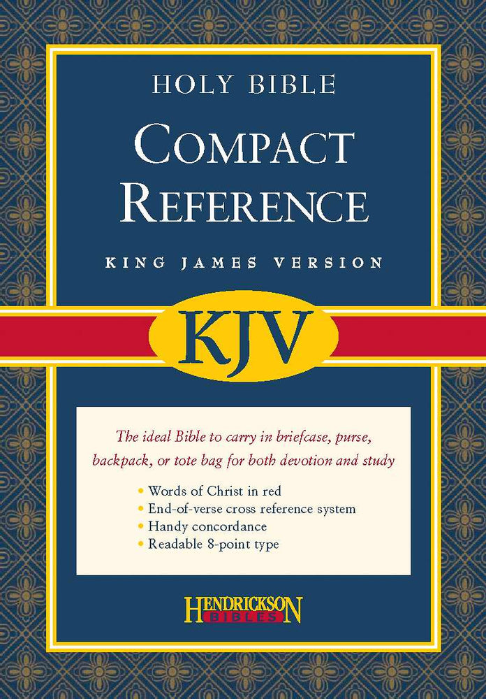 KJV Compact Reference Bible-Burgundy Bonded Leather (Value Price)