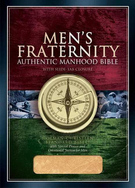 HCSB Men's Fraternity Authentic Manhood Bible, British Tan Imitation Leather