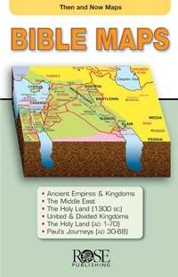 Then And Now Bible Maps Pamphlet (Pack of 5)