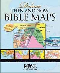 Deluxe Then And Now Bible Maps Book w/CD Rom
