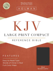 KJV Large Print Compact Bible, Black Bonded Leather