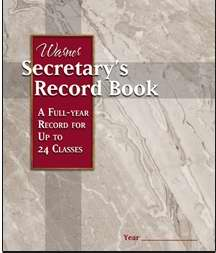 Warner Secretary's Record Book