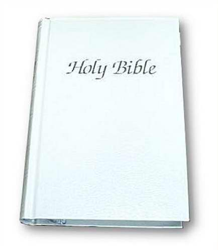KJV Royal Ruby Text Bible-White Hardcover