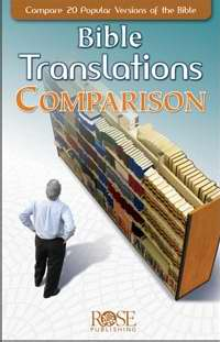 Bible Translations Comparison Pamphlet (Single)
