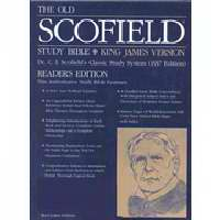 KJV Old Scofield Study Standard Edition-Burgundy Genuine Leather Indexed S/S