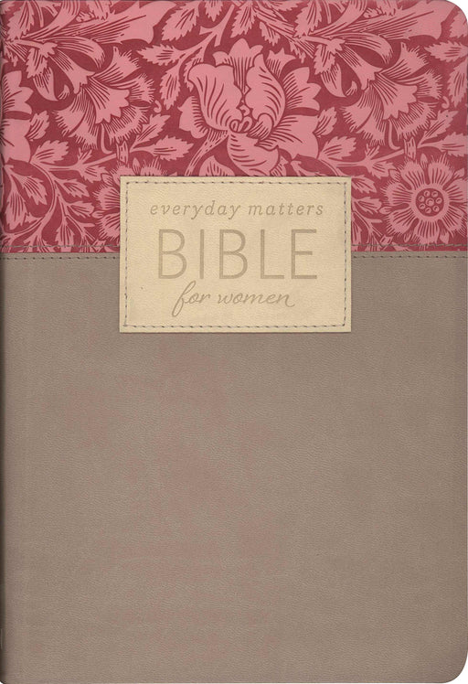 NLT2 Everyday Matters Bible For Women-Rose/Khaki Flexisoft