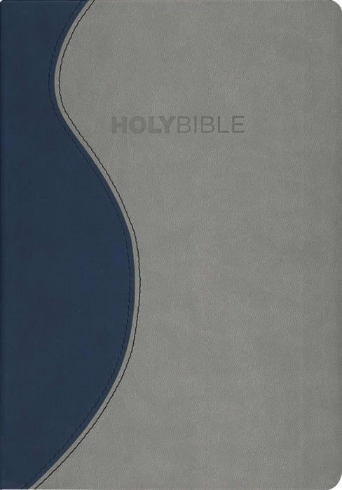 KJV Fire Bible-Blue/Charcoal Flexisoft