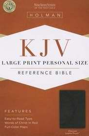 KJV Large Print Personal Size Reference Bible, Charcoal LeatherTouch