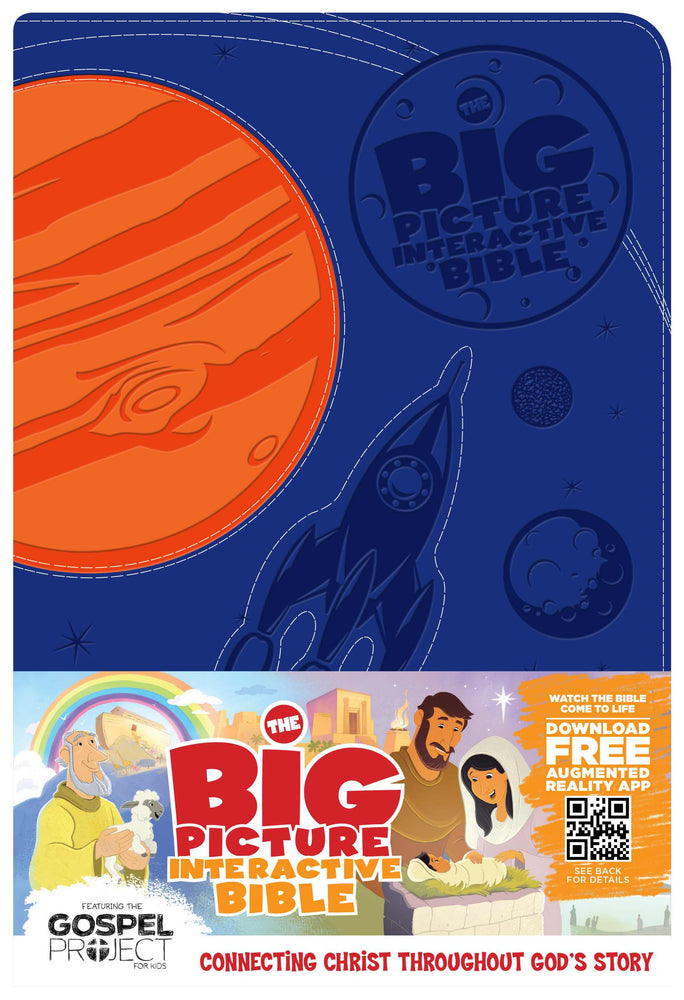 The Big Picture Interactive Bible for Kids, Orange/Purple Creation LeatherTouch
