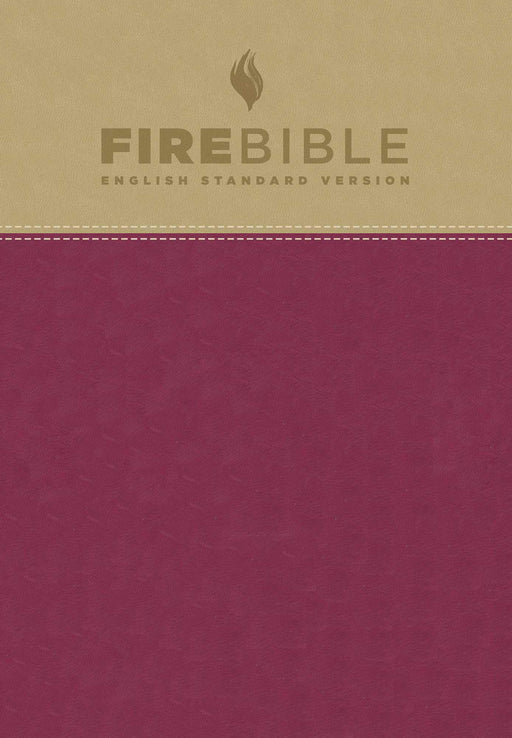 ESV Fire Bible-Tan/Berry Flexisoft