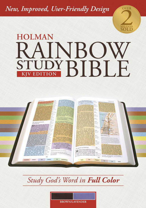 Holman Rainbow Study Bible: KJV Edition, Brown/Lavender LeatherTouch