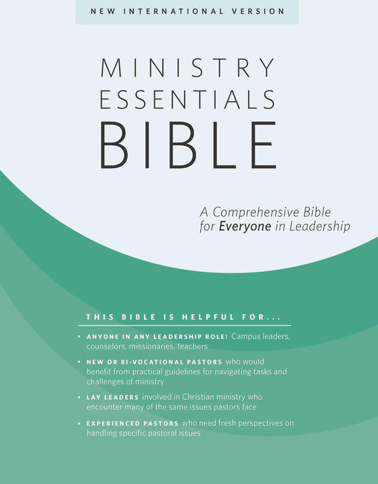NIV Ministry Essentials Bible-Black Genuine Leather Indexed