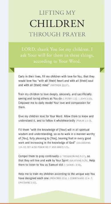 Lifting My Children Through Prayer Cards (NEW)