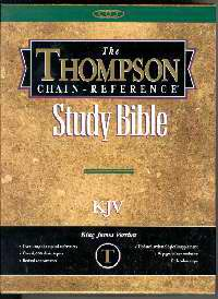 KJV Thompson Chain-Reference Bible/Handy Size-Black Bonded Leather
