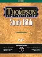 KJV Thompson Chain-Reference Bible/Handy Size-Black Capri Grain Genuine Leather Indexed
