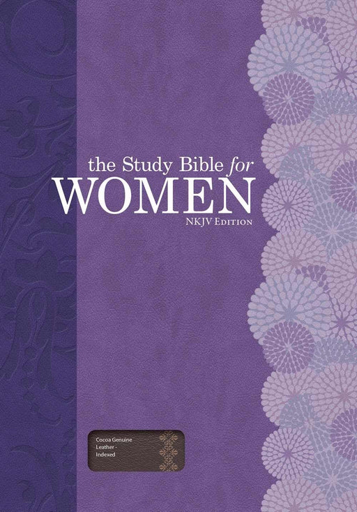 NKJV Study Bible For Women-Cocoa Genuine Leather Indexed