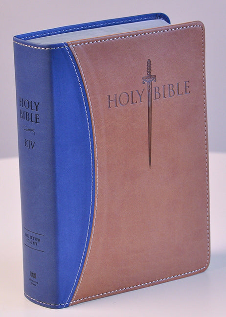 KJV Sword Study Bible/Giant Print-Blue/Tan Ultrasoft Indexed