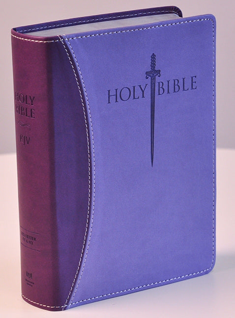 KJV Sword Study Bible/Giant Print-Dark Purple/Light Purple Ultrasoft