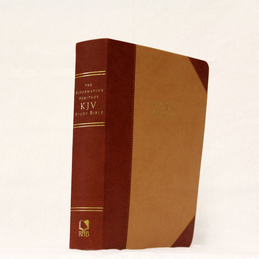 KJV Reformation Heritage Study Bible-Tan/Burgundy Two-Tone Leather-Like