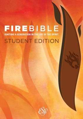 ESV Fire Bible Student Edition-Brick Red/Plum Flexisoft