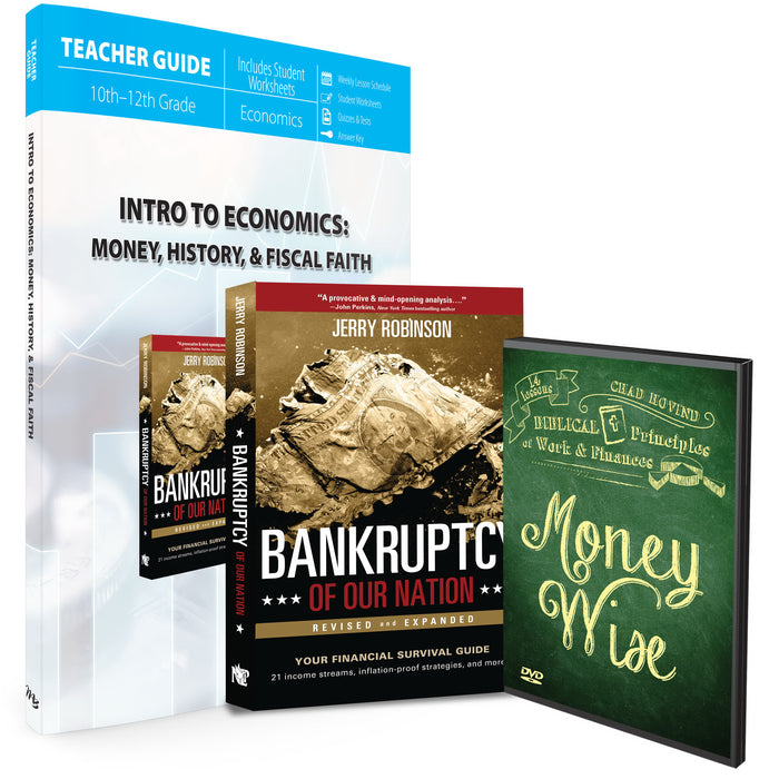 Master Books-Intro To Economics: Money  History & Fiscal Faith Set (9th - 12th Grade)