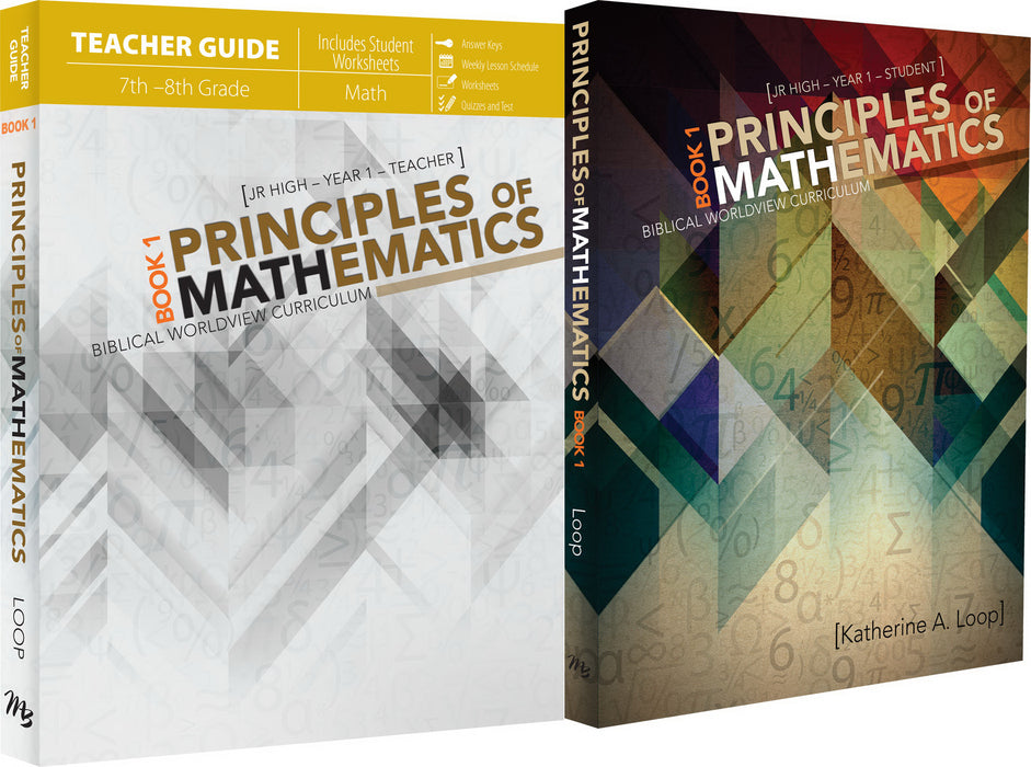 Master Books-Principles Of Mathematics Book 1 Set (6th - 8th Grade)