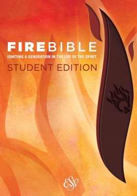 ESV Fire Bible Student Edition-Brass Brown/Chestnut Flexisoft