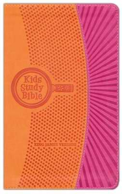 KJV Kids Study Bible-Orange/Pink FlexiSoft
