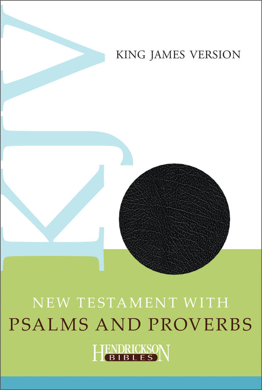 KJV New Testament With Psalms & Proverbs-Black Imitation Leather