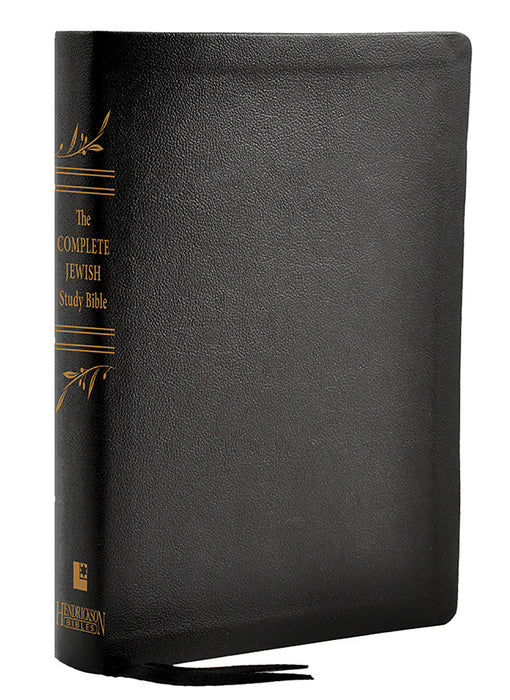 Complete Jewish Study Bible-Black Genuine Calfskin Leather
